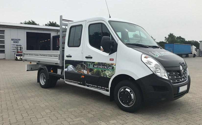 Neufahrzeugauslieferung Uhl Gartengestaltung GmbH, Renault Master