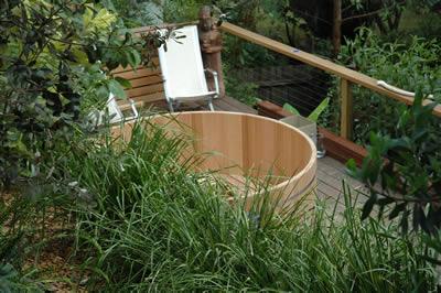 8 person original wooden hot tub from Ukko Saunas