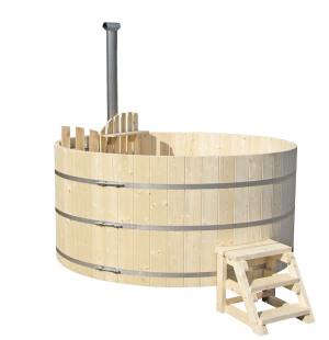 Wood fired Hot Tub from Ukko Saunas