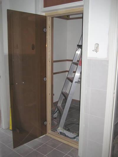 Ukko sauna all-glass door fitted