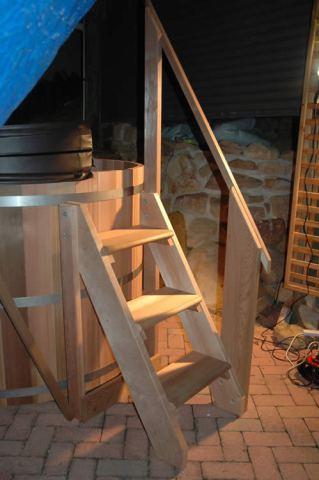 Cedar Tub Stairs