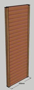 Cedar Log Sauna wall element