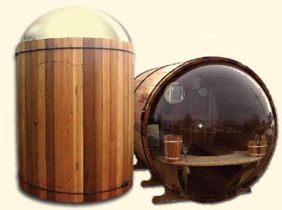Stargazer and Scenicview barrel Cedar sauna range