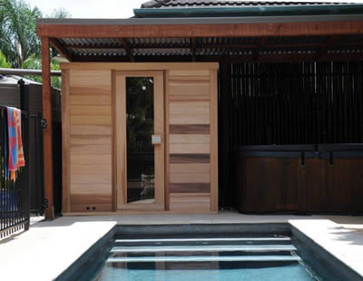 2 x 1.8m sauna installed in Wynnum West, Qld