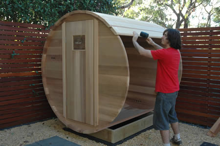 Ukko Sauna installation - step 4