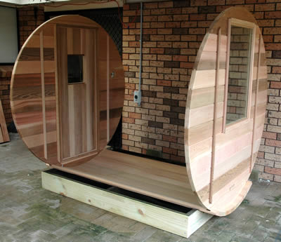 Sauna back and front walls
