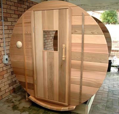 Sauna front wall