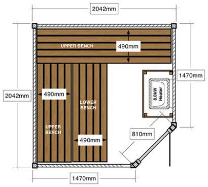 Ukko 2 x 2m corner sauna
