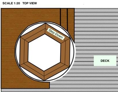 Tub top view