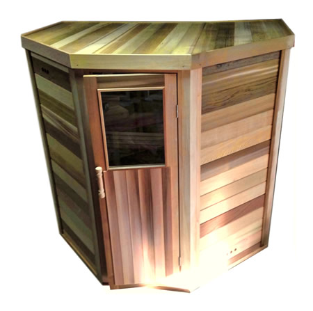 Custom made log sauna