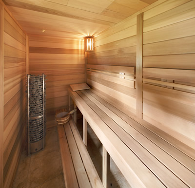 Inside Ukko custom sauna