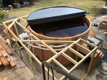 Tub enclosure framework