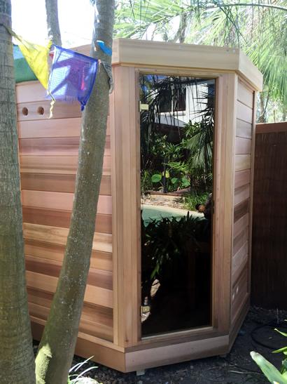 Sauna is installed.