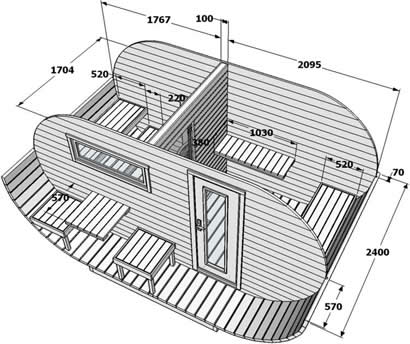 Oval Sauna Floor Plan
