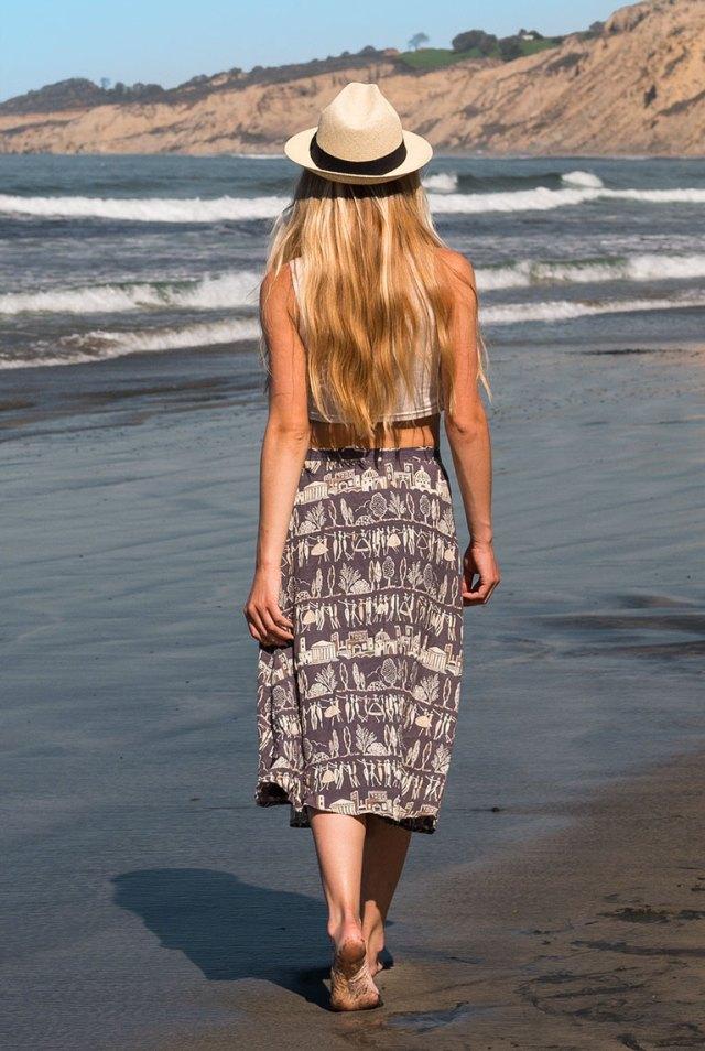 Fedora on the Beach