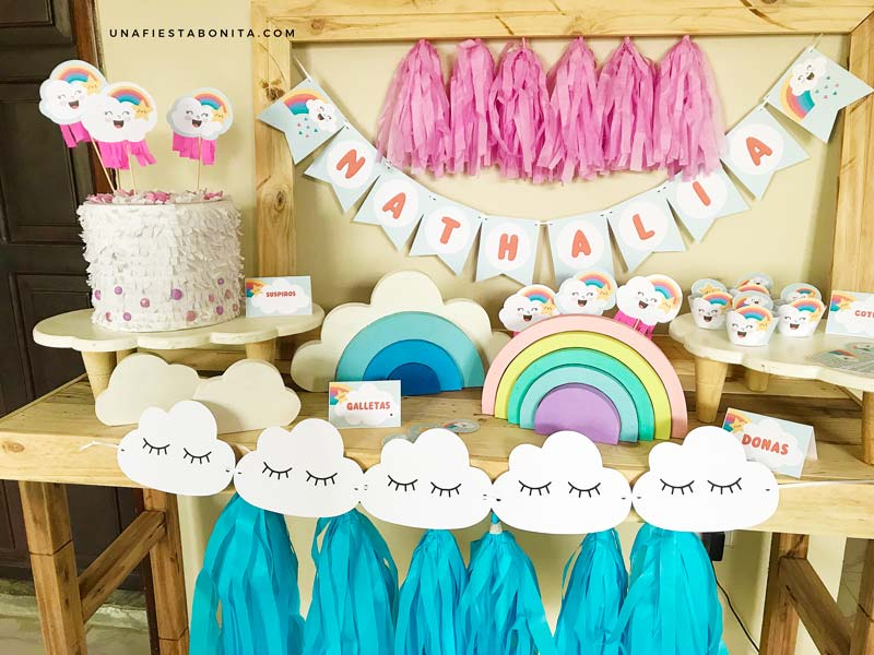 ideas para decorar fiestas nubes