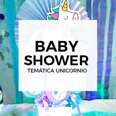 Baby shower temático de unicornio