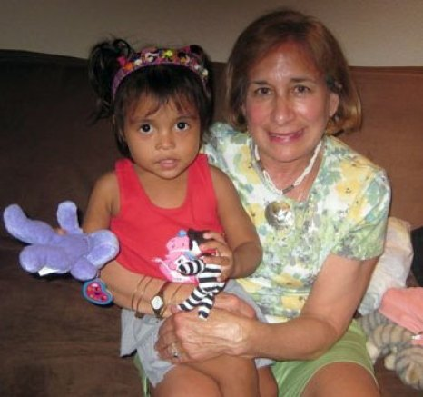 Natalie Urban with her sponsored child, Lorena, in Costa Rica