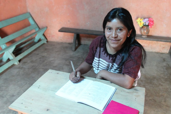 Mother of a sponsored child in Guatemala