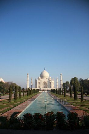 The beautiful Taj Mahal of India.