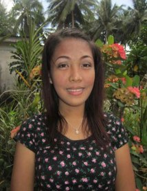 Sponsored youth, Gleselle, from the Philippines