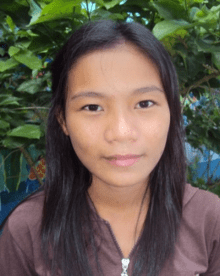 Sarah Jayne, a CFCA Scholar in the Philippines.