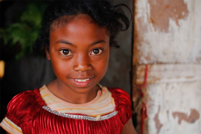 Diamondra, a sponsored child from Madagascar