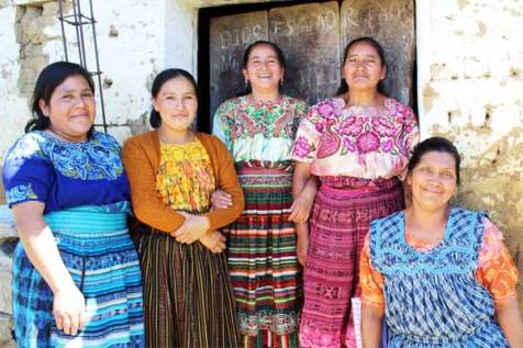 From left: Dora, Ana, Maria S., Maria Eva and Maria Y. are part of a mothers group through Unbound in Guatemala.