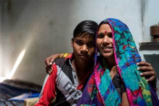 Manish and his mother, Shakuntla.