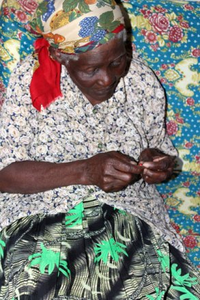 Alice says beadwork keeps her busy and 'doing something worthwhile.'