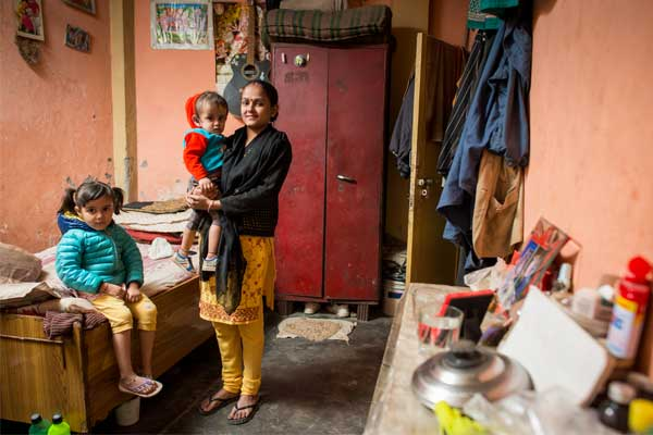 Jaishikha (left) lives in northern India with her mom, Reena; dad, Sunil (not pictured); and little brother, Kabir.