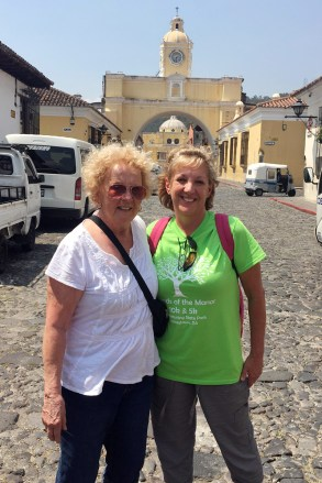 Image =Mother and daughter sponsors, Esther and Luisa, on an awareness trip in Guatemala.