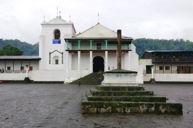 An image of the church in Santiago Atitlan.