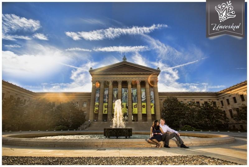 Philadelphia Engagement Session with Uncorked Studios a destination Wedding Photographer