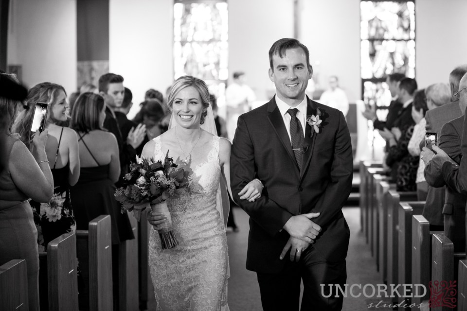 Newlyweds at St Robert Bellarmine Church