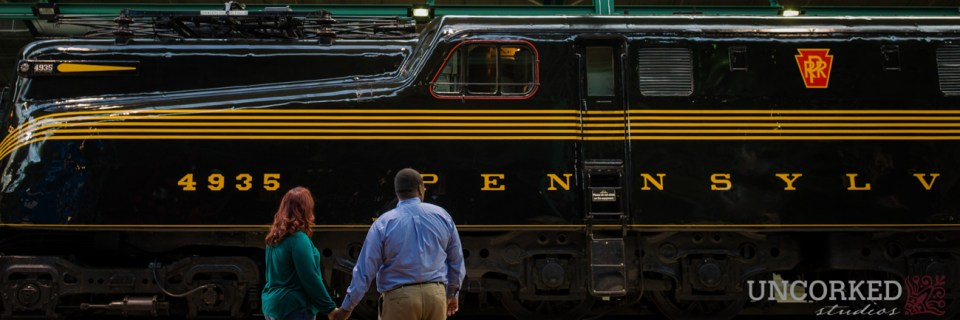 Pennsylvania Train Museum engagement