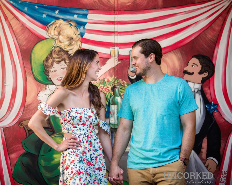 Grafitti in Phoenixville for this engagement session