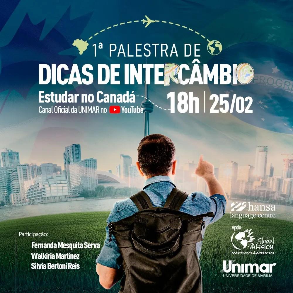 """Unimar realiza série de lives """"Dicas de Intercâmbio"""""""