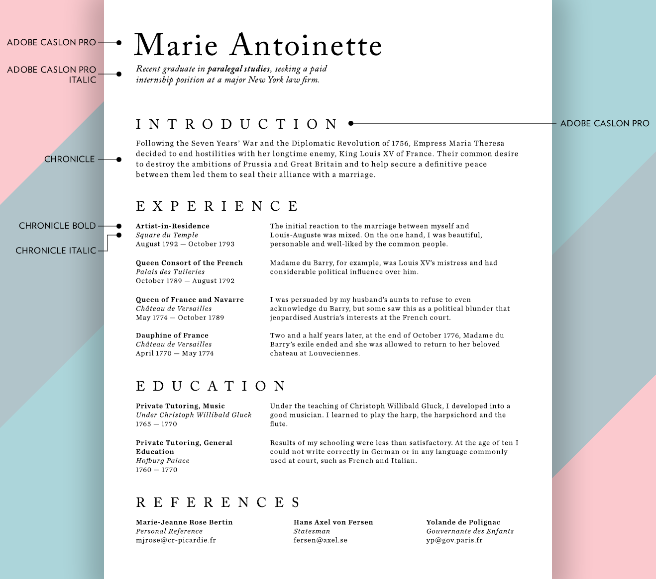 What Font For A Resume What Fonts Should I Use On My Résumé Union Io