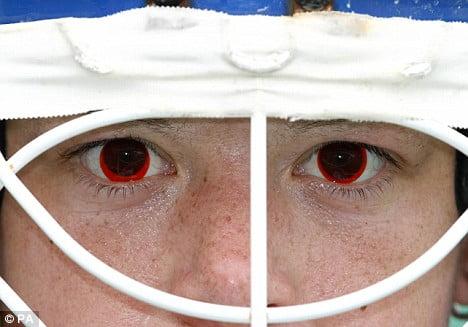 red prescription contact lenses