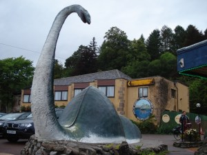 A visit to the Loch Ness Monster Visitor Centre in Drumnadrochit ensures you a sighting of the beast! (photo courtesy of n.hewson)