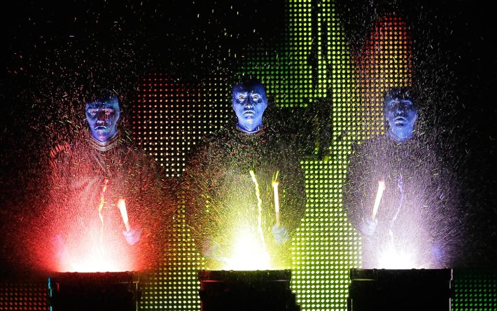 Watch the Blue Man Group show at Universal CityWalk.
