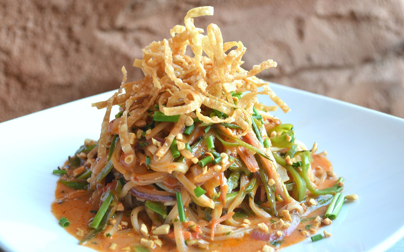 Pad Thai from Mythos Restaurant in Universal's Islands of Adventure.