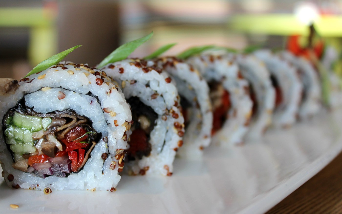 The Tree Hugger roll from The Cowfish in Universal CityWalk.