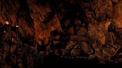 Voldemort in Harry Potter Escape from Gringotts