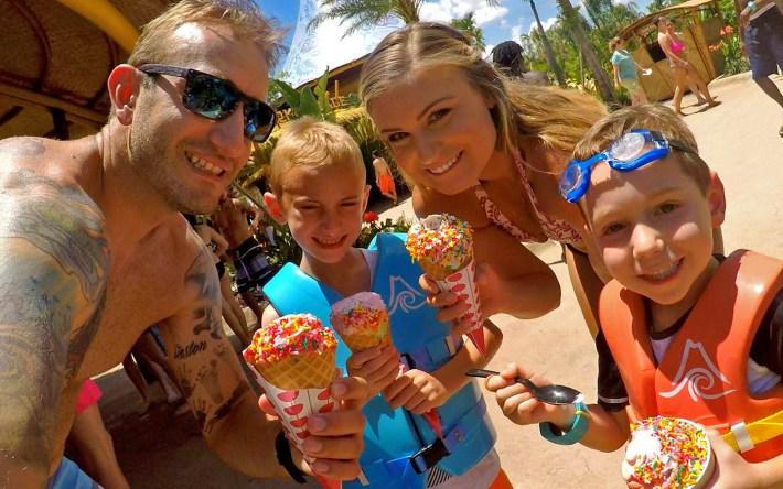 Ice Cream at Universal's Volcano Bay