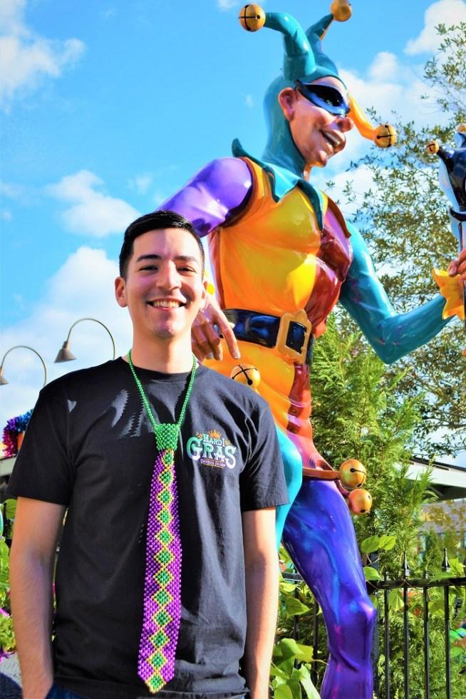 Mardi Gras Merchandise - Front of Shirt Tie