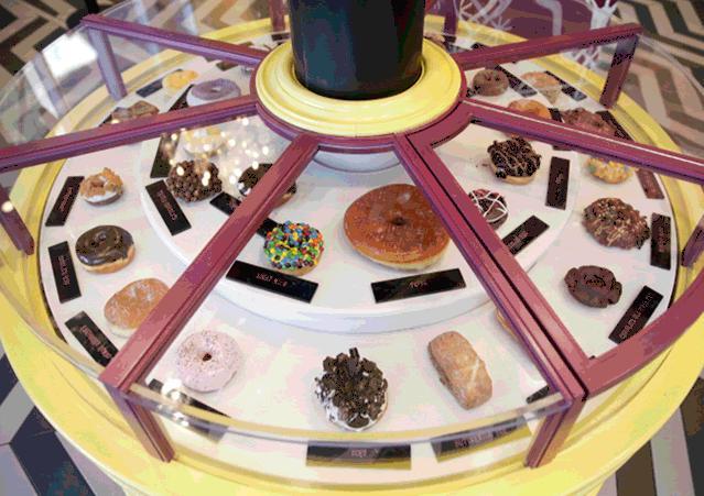 Voodoo Doughnut Rotation GIF Universal CityWalk