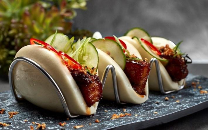 Braised Pork Belly Bao Buns at Bar 17 Bistro