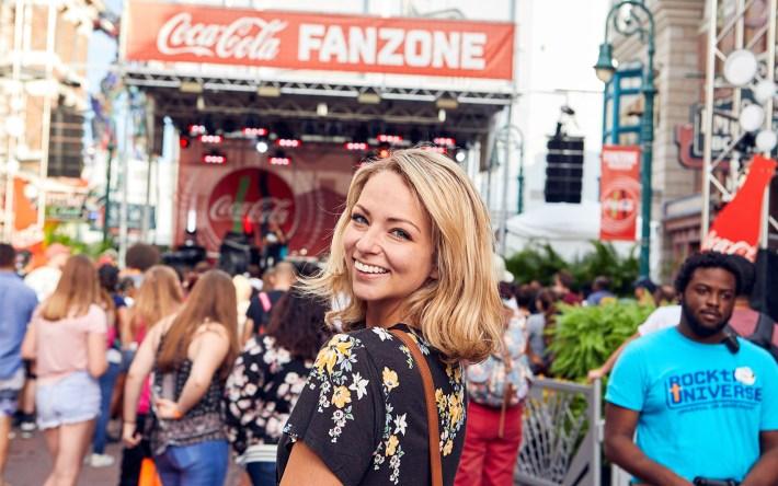 Coca-Cola Fan Zone at Rock the Universe
